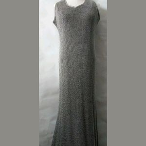 DAMIANOU Dress Large Knitted Gown Silver Metallic